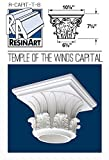 Temple of the Winds Capital for Hollow Column - M Size - Composite Resin - Unfinished - Paint Ready - Load Bearing - Dimensions In Images/Details