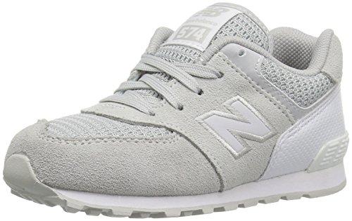 New Balance Kids KL574 Sneaker, Grey/White (C9), 13 M US Little Kid