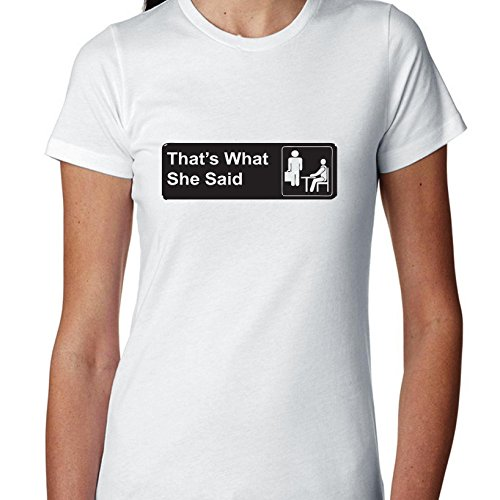 Hollywood Thread The Office That's What She Said Iconic Women's Cotton T-Shirt