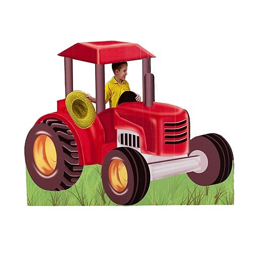 Shindigz Farmer Tractor Standee Farm Party Prop Standup Photo Booth Prop Background Backdrop Party Decoration Decor Scene Setter Cardboard Cutout (Best Small Tractor For Small Farm)