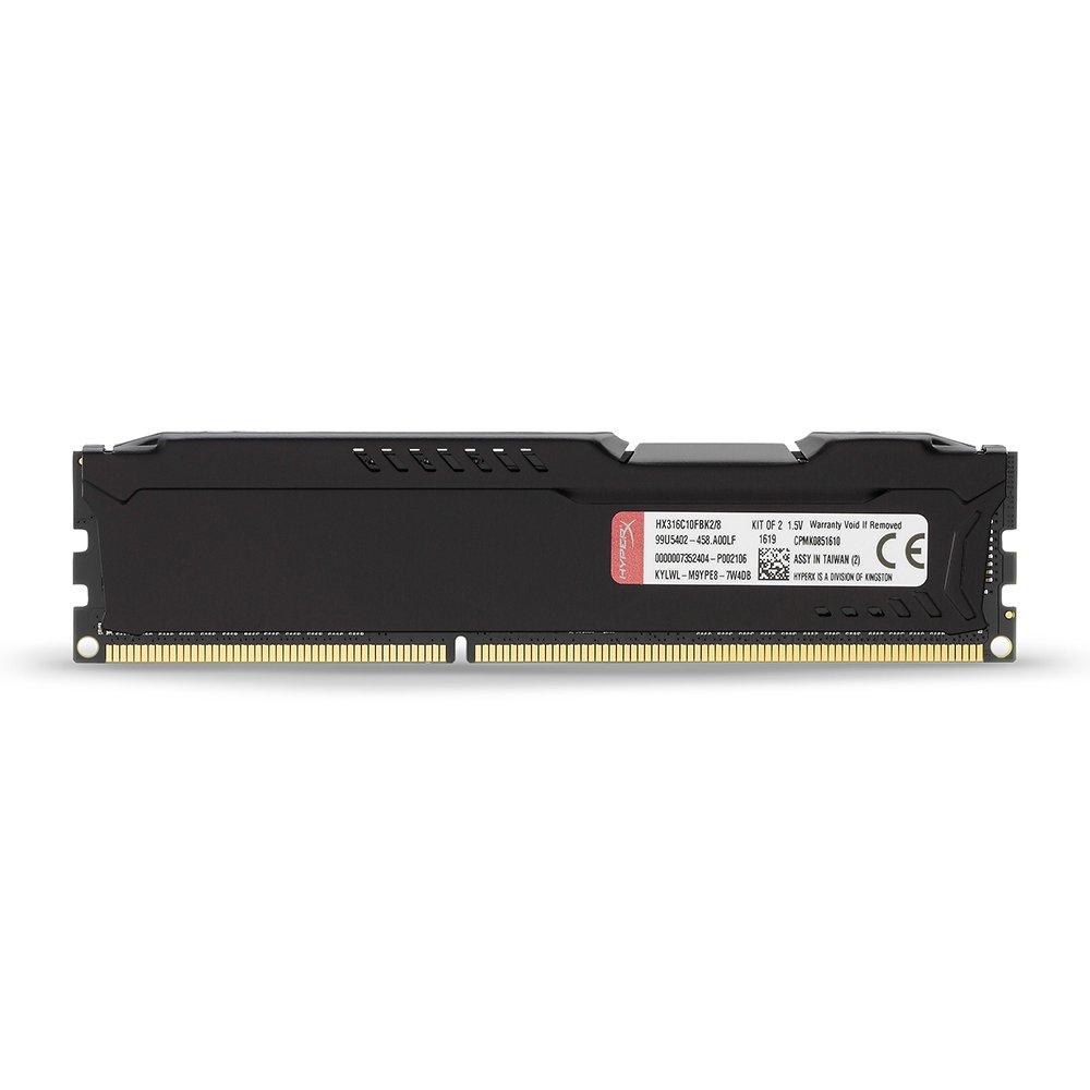Kingston HyperX FURY 8GB Kit (2x4GB) 1600MHz DDR3 CL10 DIMM - Black (HX316C10FBK2/8) by HyperX (Image #4)