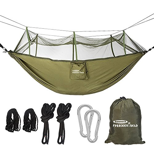 Camping & Hiking Loyal Portable Camping Hammock With Mosquito Net 1-2 Person Outdoor Hanging Bed Strength Swing Sleeping Bag Multifunction Lazy Bag Easy And Simple To Handle Sleeping Bags