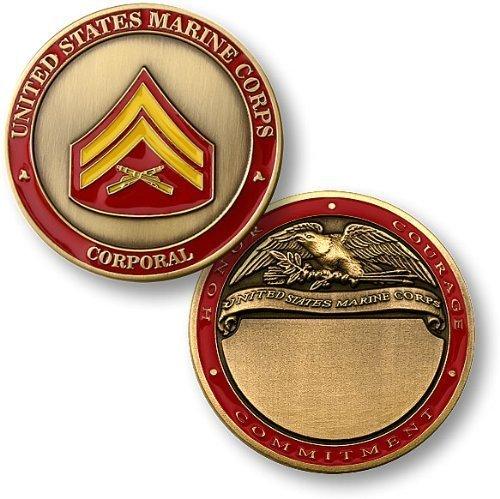 U S Marines Corporal Engravable Challenge
