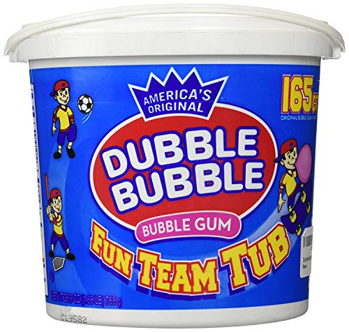 Dubble Bubble 165 Count Tub Bubble -