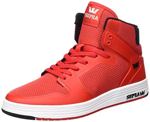 2.0 Chaussures De Sport Haut Supra Hommes Rouges (rouge-blanc)