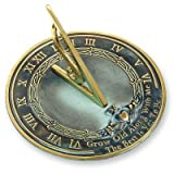 "Rome RM2308 Brass Sundial ""Grow Old With Me"""