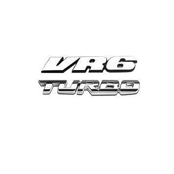 VR6 Turbo Emblema tronco cola Badge Pegatina para Volkswagen VW Passat CC Golf MK3 MK4 MK5 Jetta Bora Touareg Corrado: Amazon.es: Coche y moto