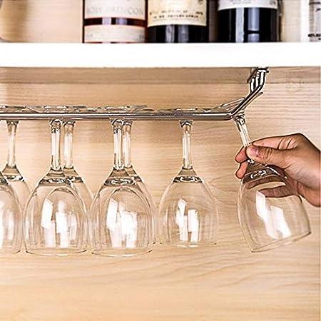 KUMOPYU 1 Pieza De Hierro, Estante para Copas De Vino, Herramienta De Vino, Soporte para Copa De Agua, Caja De Almacenamiento Creativa, Accesorios De Cocina, Una Sola Fila Vinotecas Copas De Vino