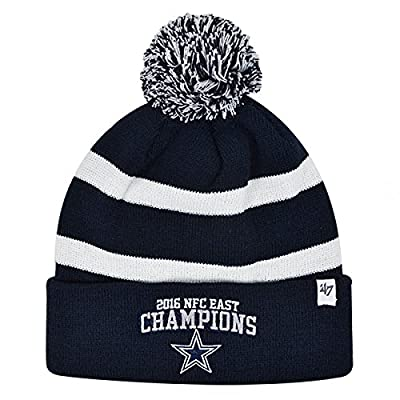 Dallas Cowboys 2016 NFL Official NFC EAST CHAMPIONS Knit Cuffed Pom Hat