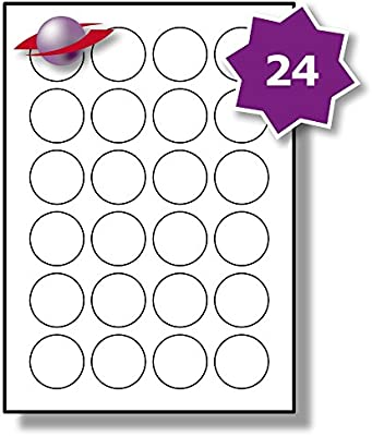 graphic regarding Printable Circle named 24 For every Site/Sheet, 10 Sheets (240 Spherical Sticky Labels), Label Planet® White Simple Blank Matt Paper Self-Adhesive A4 Round Selling price Pricing Stickers,