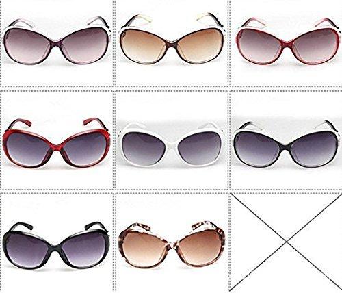 sol Gafas montura mujer Gafas de moda caqui polarizadas resistentes de al Lila UV talla Daorier sol Protección Marrón única seguridad gran plástico ZAdvZ0