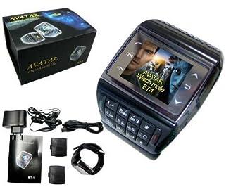 Última Avatar 1,3 pulgadas teléfono móvil - Reloj de pulsera (Bluetooth, MP3/MP4 player, Teléfono, Gadget), 2 GB Tarjeta De Memoria.: Amazon.es: Electrónica