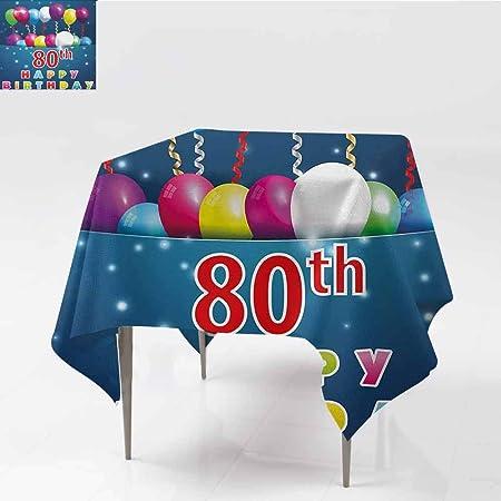 DILITECK - Mantel de poliéster para Fiesta de 80 cumpleaños ...