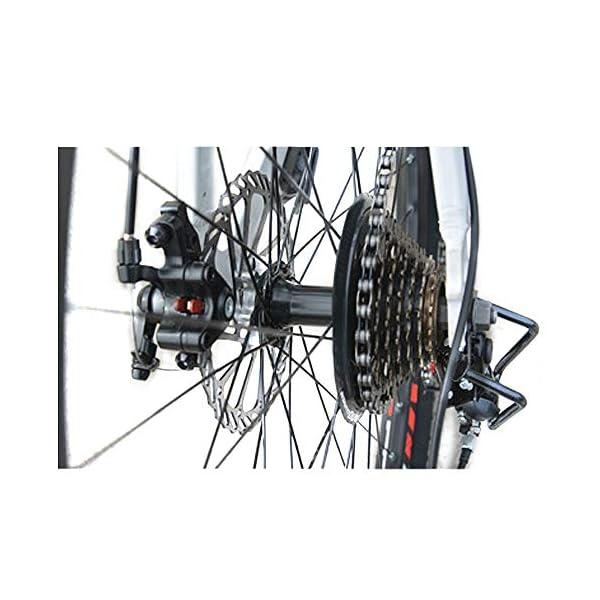 wotefusi Bici Montagna 21 Velocita 26 Pollici Bici Strada Mountain Bicicletta all Terrain Bianco Blu 3 spesavip
