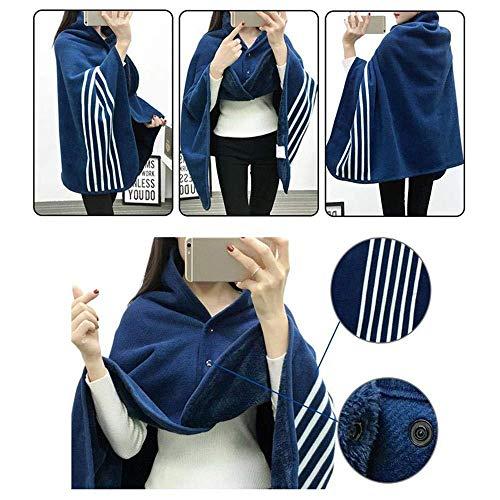 Queen Mattress Waterproof Pad (Buyeverything Soft Plaid Scarf Wrap Shawl Blanket Winter Warm Multifunction Double Layer Tartan Fleece Scarves Fashion Blanket for Women Girls Lady (C))