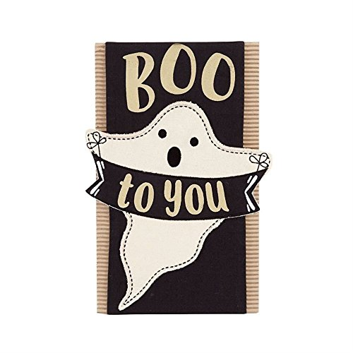 Mud Pie Halloween Ghost Pillow Wrap (Pillow not -