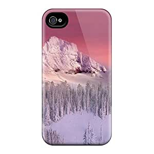 Hot AgZVKVf4653JexhN Case Cover Protector For Iphone 4/4s- Snow Winter Mountain