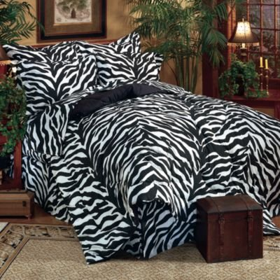 Kimlor Mills Karin Maki Zebra Complete Bed Set, Queen, Black ()