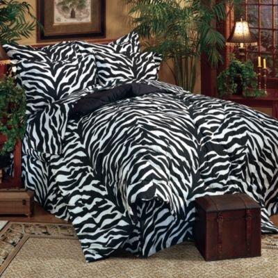 - Kimlor Mills Karin Maki Zebra Complete Bed Set, Queen, Black