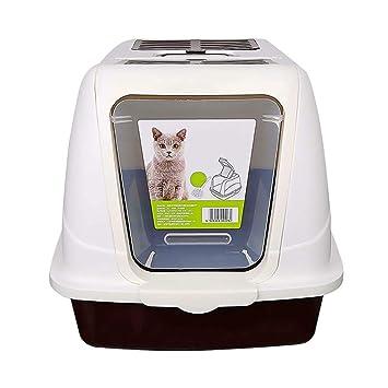QIQI Caja De Arena Higiénica para Gatos, Totalmente Cerrada, Desodorante, Desodorante, Bandeja