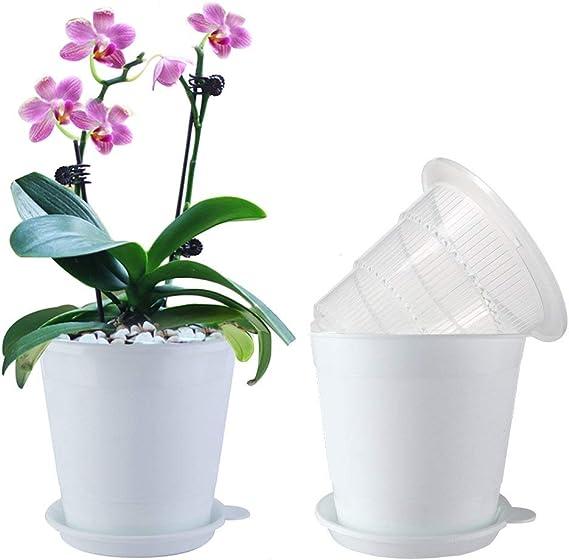 5PCS Plastic Mesh pot Clear Orchid Nursery Flower Pot With Holes Home Decoration