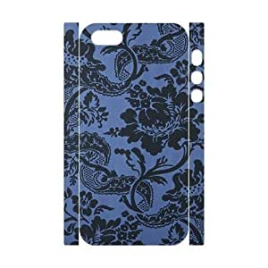 Blue Flowers Customized 3D Cover Case for Iphone 5,5S,custom phone case ygtg613184