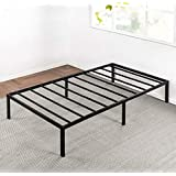 Best Price Mattress Twin Bed Frame - 14 Inch Metal Platform Beds w/ Heavy Duty Steel Slat Mattress Foundation (No Box Spring Needed), Black