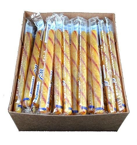 Old Fashioned Butterscotch Candy Sticks - 80 / Box - Butterscotch Bear