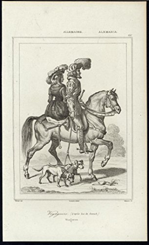 Ladies Antique Saddle - Travelers Pet Dogs Wealth Beautiful Woman Sidesaddle 1838 antique engraved print