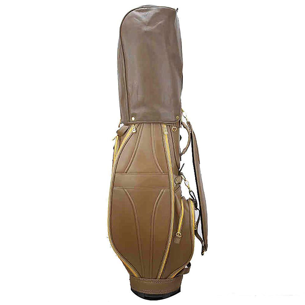 ゴルフ標準バッグ、女性のスタイル、茶色、高弾性繊維 PU ヘッドキャップ、50 * 14.96 * 11.02 インチゴルフカートバッグ   B07NJFYR3X