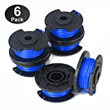 YWTESCH Line String Trimmer Replacement Spool 0.065-Inch for Ryobi 18v, 24v, and 40v Cordless String Trimmer, 6 Packs