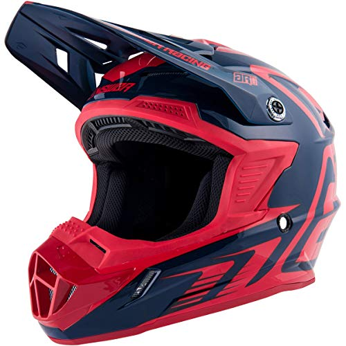 - Answer Racing A19 Ar1 Edge Adult Off-Road Motorcycle Helmet - Midnight/Bright Red/Medium