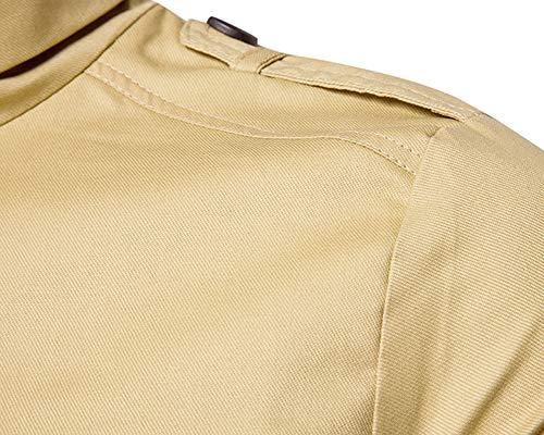 Cazadora para Pie Chaqueta De Cremallera Abrigo Caqui Hombre Bomber Collar QitunC 8wZqPaw