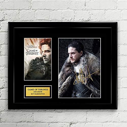 Kit Harington Jon Snow Aegon Targaryen Game of Thrones Signed Autographed Photo Mat Custom Framed 11 x 14 Replica Reprint Rp (Framed Mat Photo)