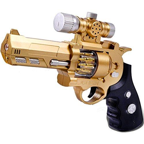 CHAKMEE Kid Light Vibrate Cartoon Projection Gun Model Toy Indoor Novelty