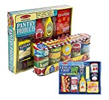 Melissa & Doug Fridge Food Set with Grocery Cans and Pantry Products