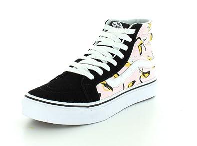 7933295ef5 Vans Unisex Bananas SK8-Hi Slim Ballerina True White Sneaker - 3.5