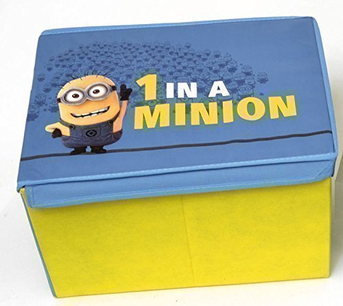 GLOW Set of 2 Despicable Me Minions Storage Box – Officially Licenced Bright and Colourful 1 in a Minion Made Large Toy Games Books Arts Crafts Storage Organising Box Cube – Ideal for Kids Children Family Bedroom Playroom GLOW Wholesale