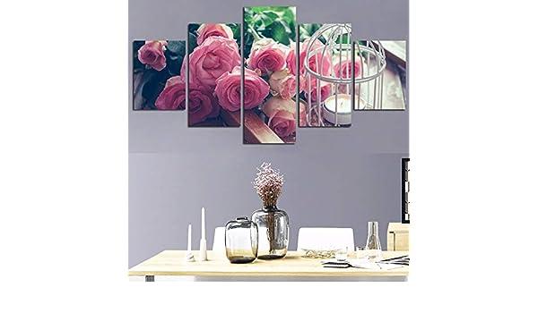 Imagen en Lienzo Arte de la Pared Sala de Estar en casa 5 Piezas ...