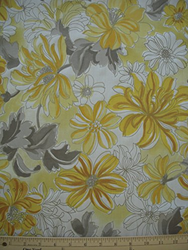 A.S Egyptian Cotton Fine Quality Fabric From Italy- Cactus Flower Print - Sell by the Yard
