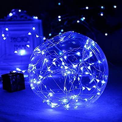[Upgraded Timing Function]LuckLED Battery Operated Starry String Lights, 21ft 60LED Fairy Decorative Copper Wire Rope lights for Indoor/Outdoor, Home, Party, Christmas and Holiday Decor