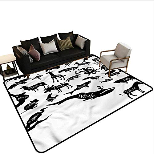 Black and White,Non-Slip Bath Hotel Mats 48