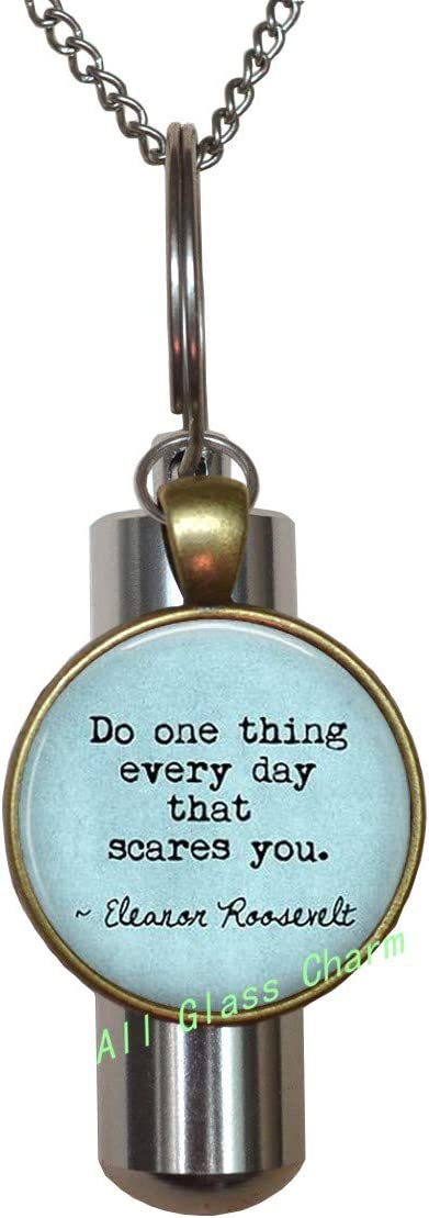 AllGlassCharm Quote Do one Thing Every Day That Scares You.-Graduation Quote-Gift for Grad,AS0206