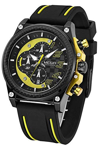 HWCOO Hermoso Relojes de Pulsera Reloj de Cuarzo MEGIR/Watch Cross-Border Sports para