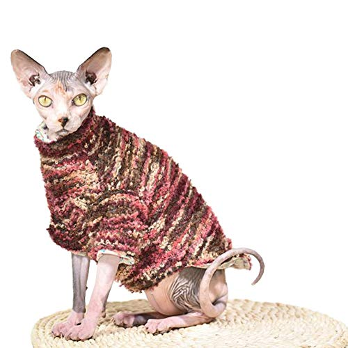 DENTRUN Hairless Cats Sweater Cat Wear Cat Designer Winter Warm Clothes, Sweater Best Hairless Cat's Adorable Clothes Cat's Pajamas Jumpsuit Cat -