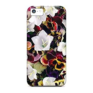 New Arrival XREsdnY4991RDSyG Premium Iphone 5c Case(pansies White Bellflowers)