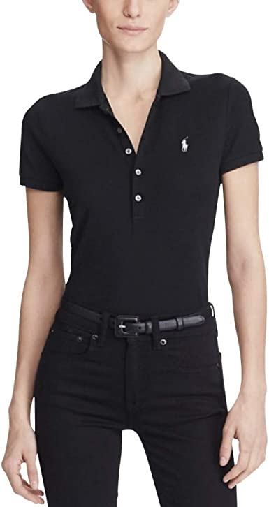 Polo Ralph Lauren Stretch Mesh/Julie Polo, Mujer, Negro Black ...