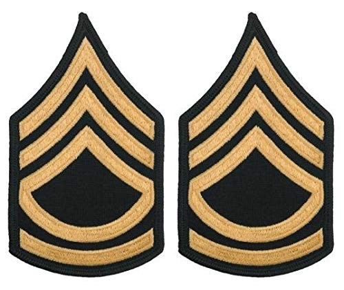 Sergeant Military Rank (Army Blue Chevrons, Sergeant First Class, SFC Large E-7)