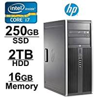 HP Elite 8100 i7 Workstation (Core i7 2.8GHZ 2TB HDD 256GB SSD 16GB RAM WIFI Windows 7 Pro 64) - Refurbished