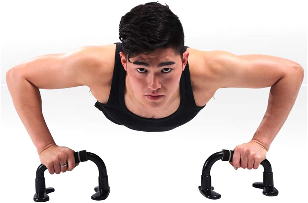 1Pair Push up Bars with foam handle,non slip and sweat-proof,lightweight portable for workout arm muscle Dengofng Stay Home Fitness Equipment